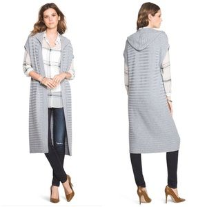 Sweaters - LONG HOODED COVERUP